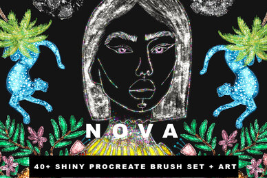 Nova Shiny Glitter Procreate Brushes