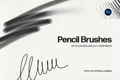 Basic Pencil Photoshop Brushes