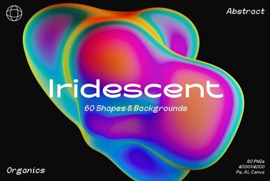 Iridescent Gradient Shapes  Backgrounds