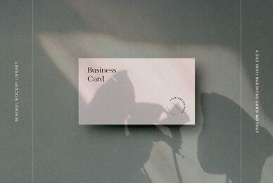 3 5 x 2 Inch Business Card Mockup