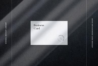 85x55 mm Business Card Mockup Set