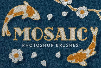 Mosaic Tile Photoshop Brushes