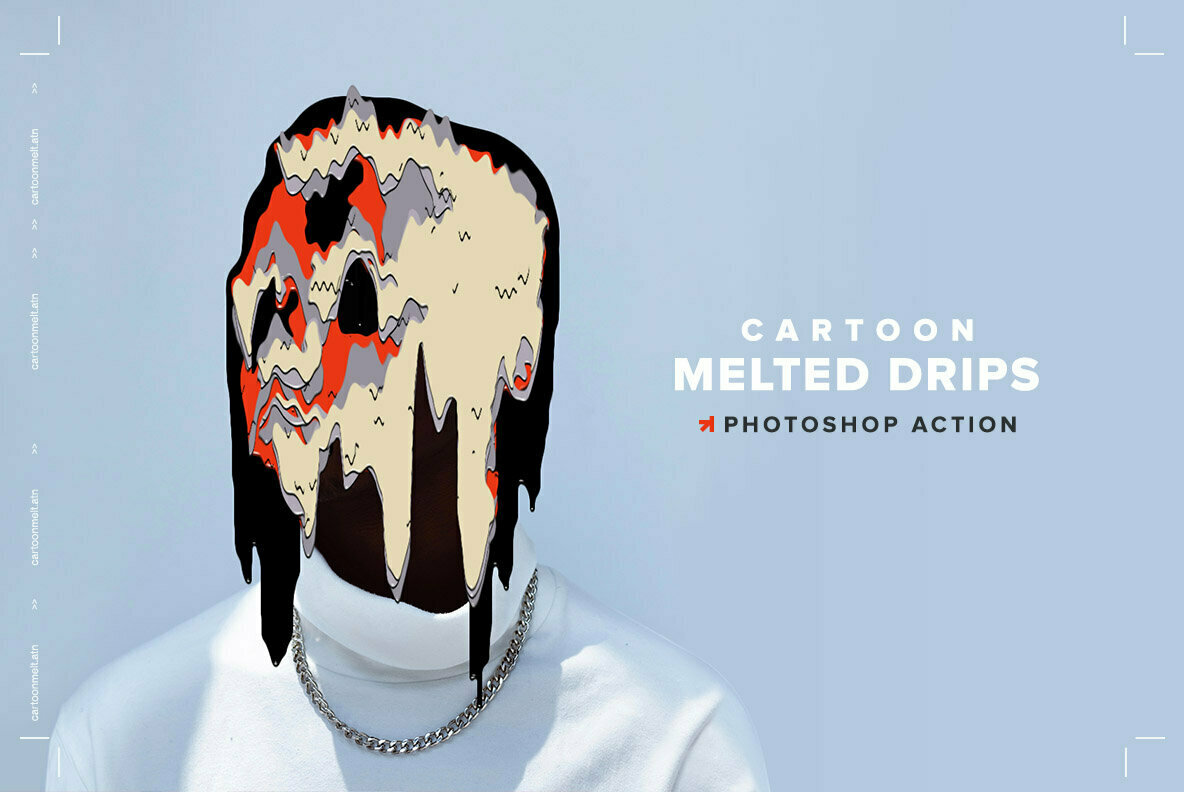 Cartoon Melted Drips Action