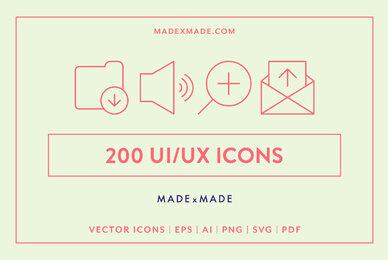 UI  UX Line Icons