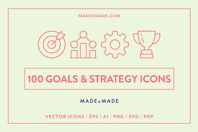 Goals  Strategy Icons