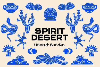 Spirit Desert Linocut Bundle