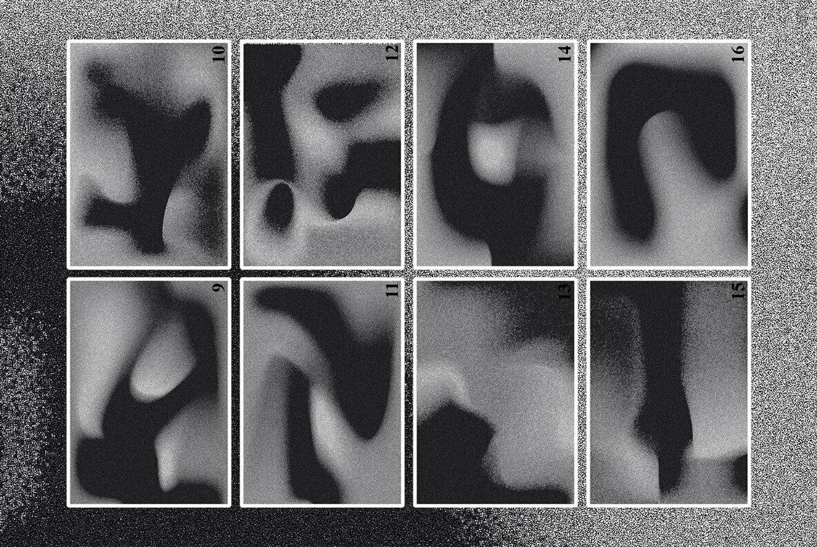 Dark Retro Gradient Textures