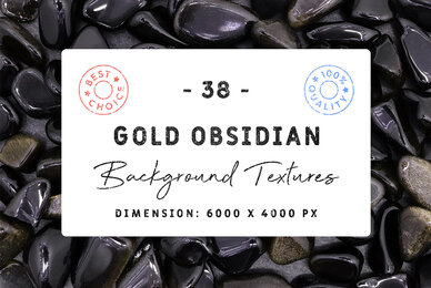 38 Gold Obsidian Background Textures