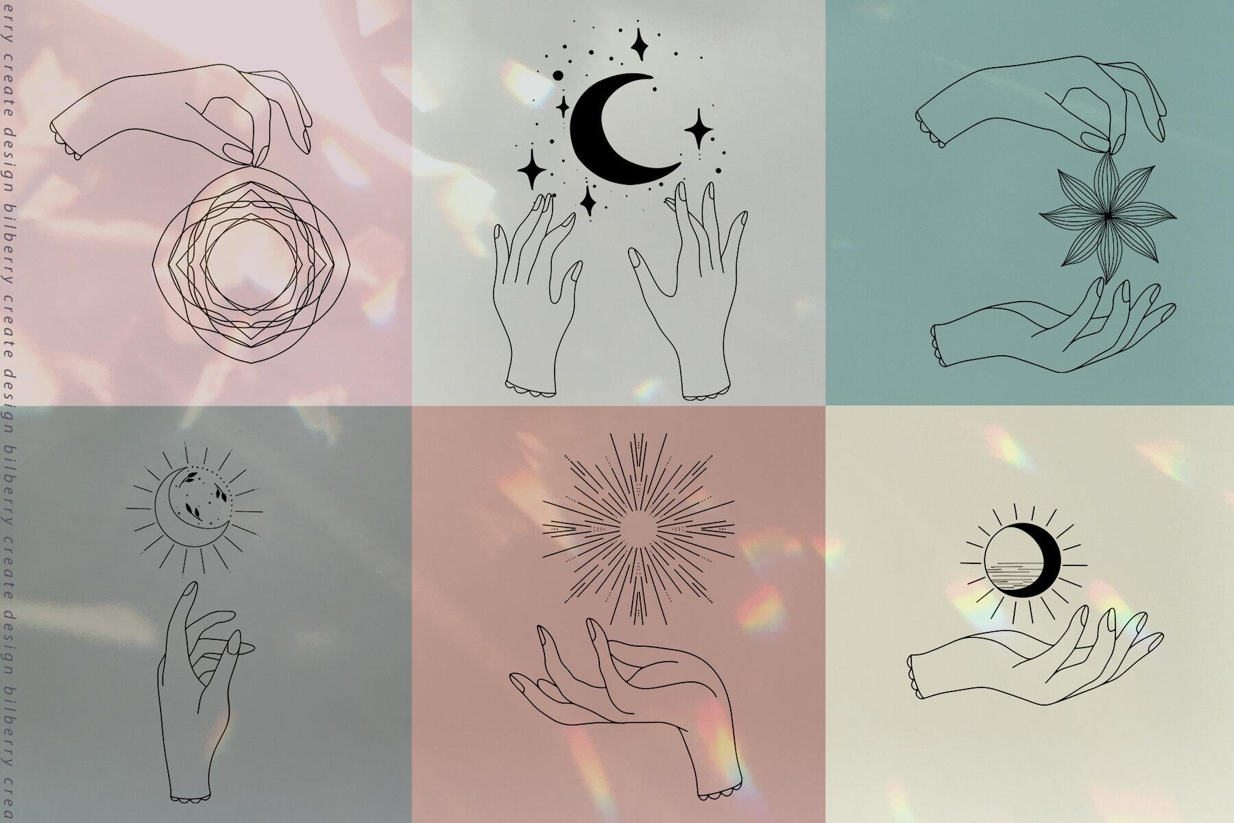 Summer Moon Art Set