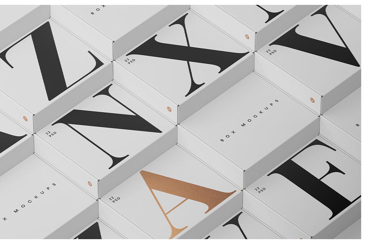 Box Mockups Bundle   Mailing Box