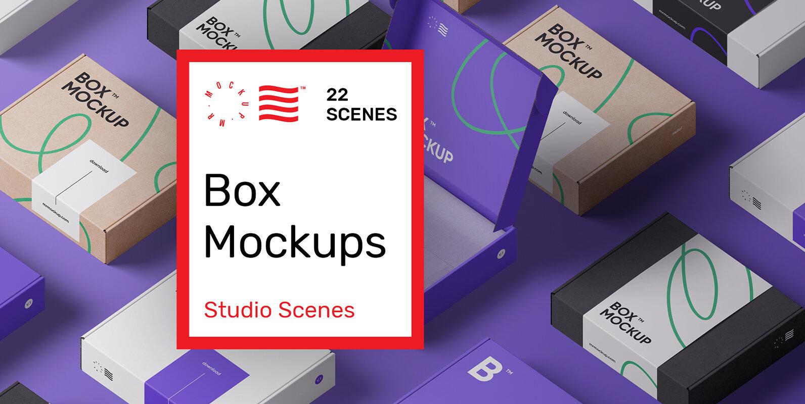 Box Mockups Bundle - Mailing Box
