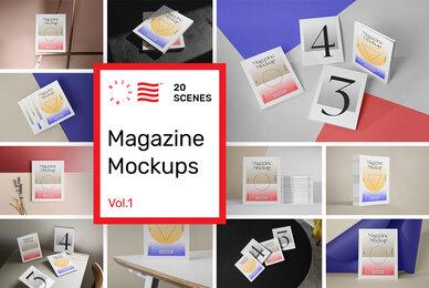 Magazine Mockups Vol 1