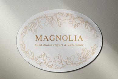 Magnolia Flowers Clipart