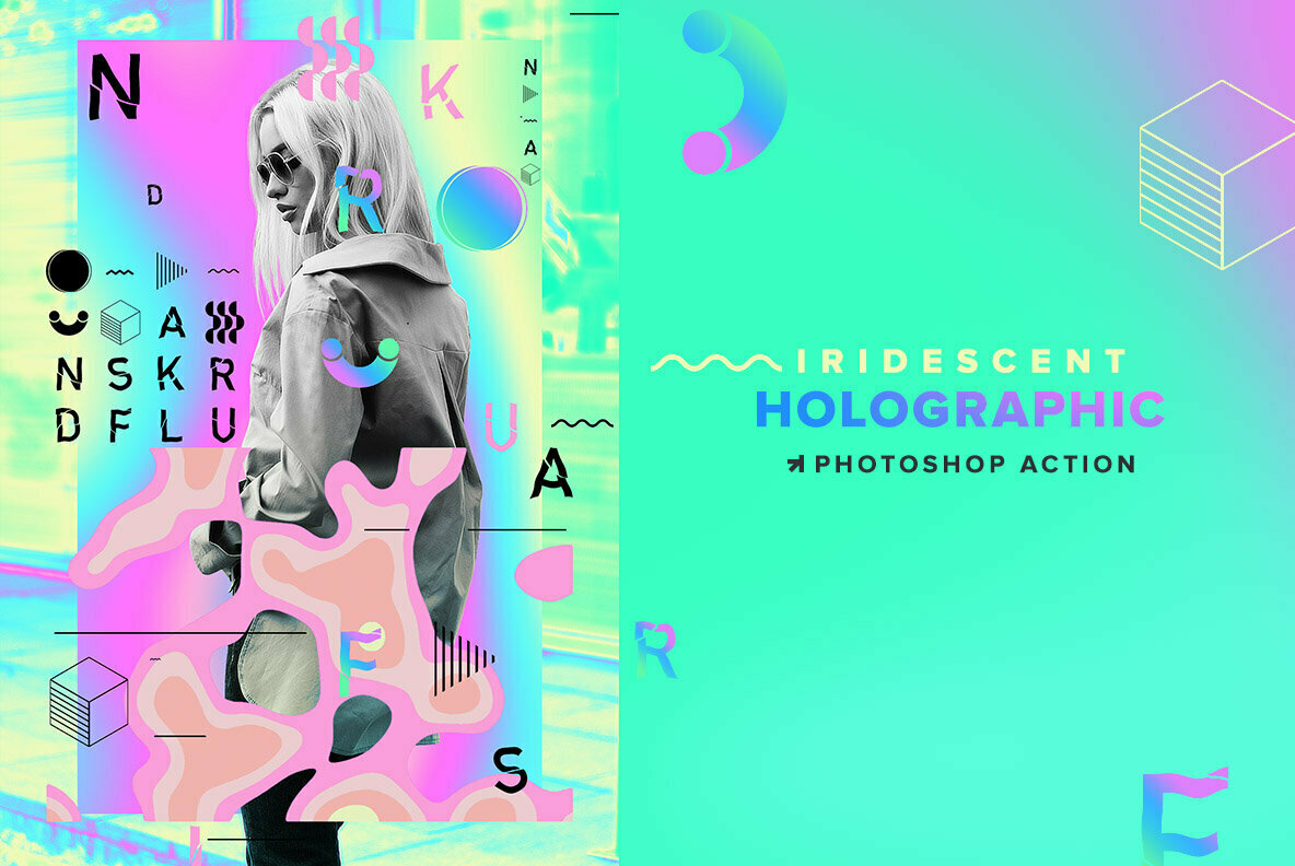 Holographic Iridescent Photoshop Action