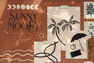 Sunny Mood Boho Abstract Set