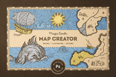 Vintage Map Creator for Photoshop