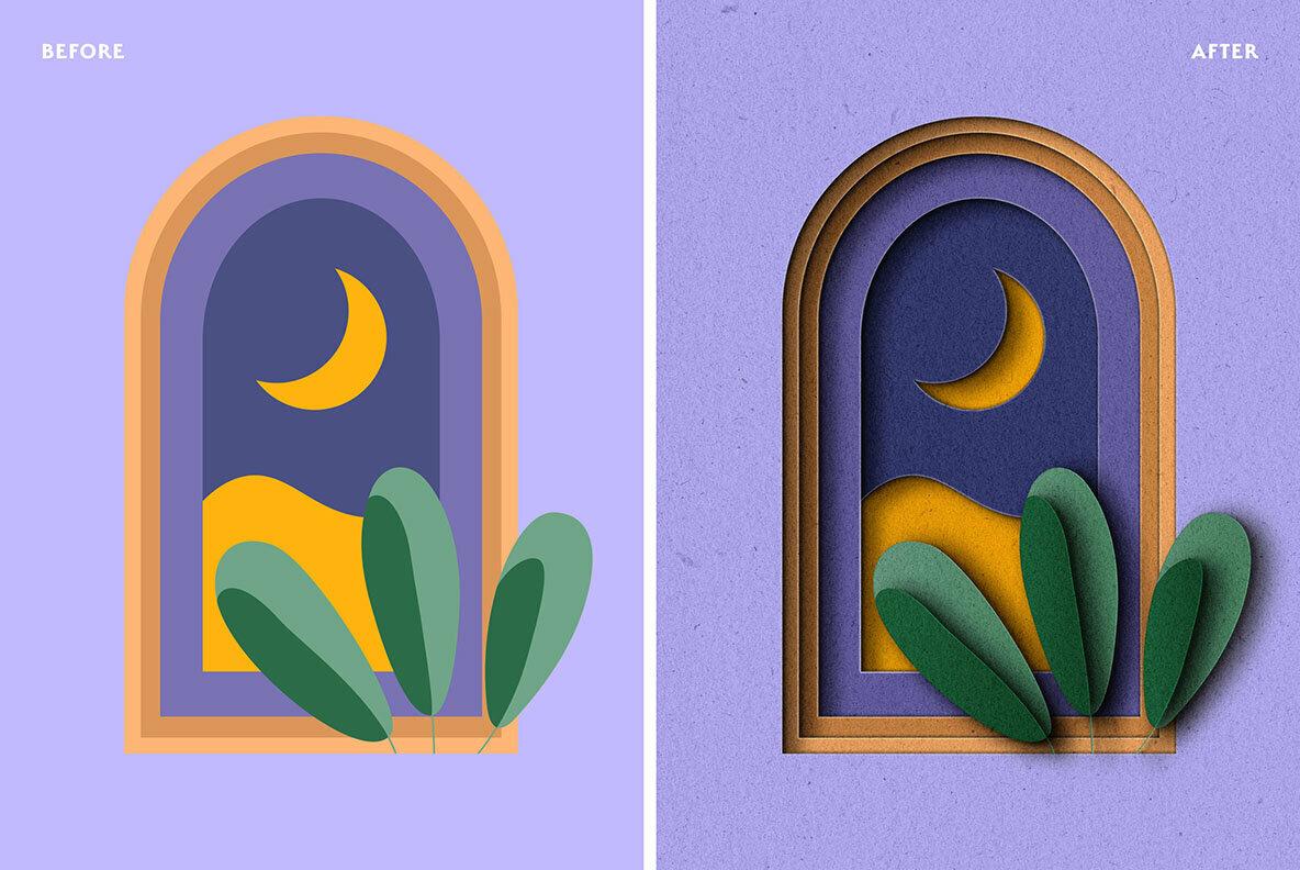 Scissored Paper Cut Out PS Effect