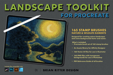 Landscape Toolkit for Procreate
