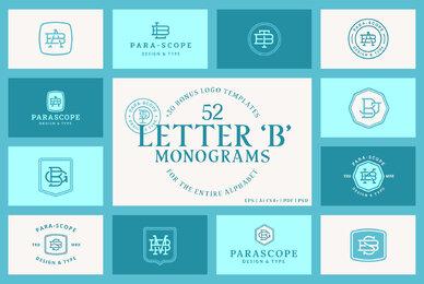 52 Letter B Monograms