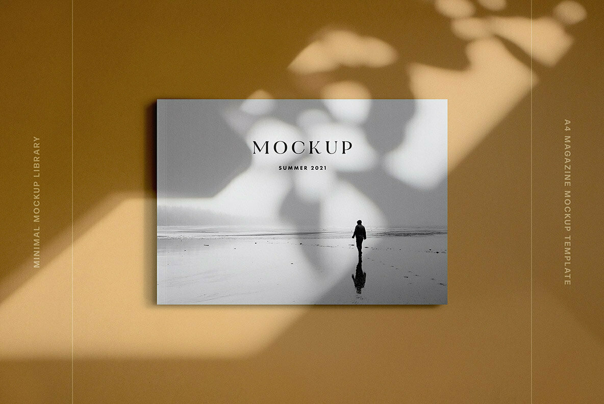 Landscape A4 Magazine Mockup