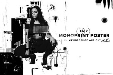 Ink Monoprint Poster Photoshop Action
