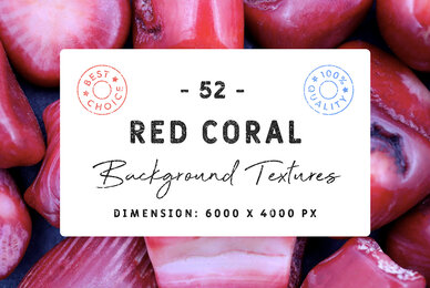 52 Red Coral Background Textures