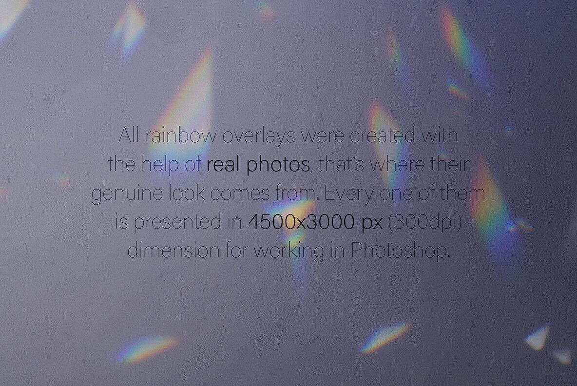 Shimmer Rainbow Photo Overlays