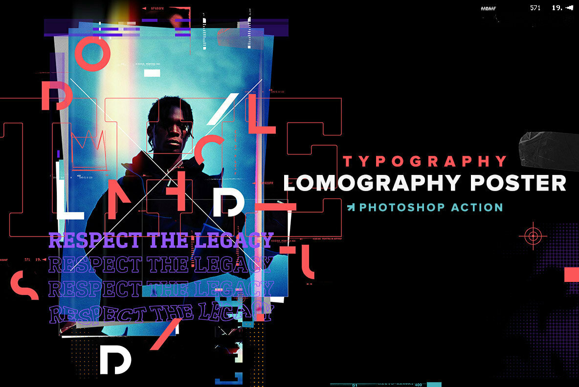 Lomography Typography Poster Photoshop Action