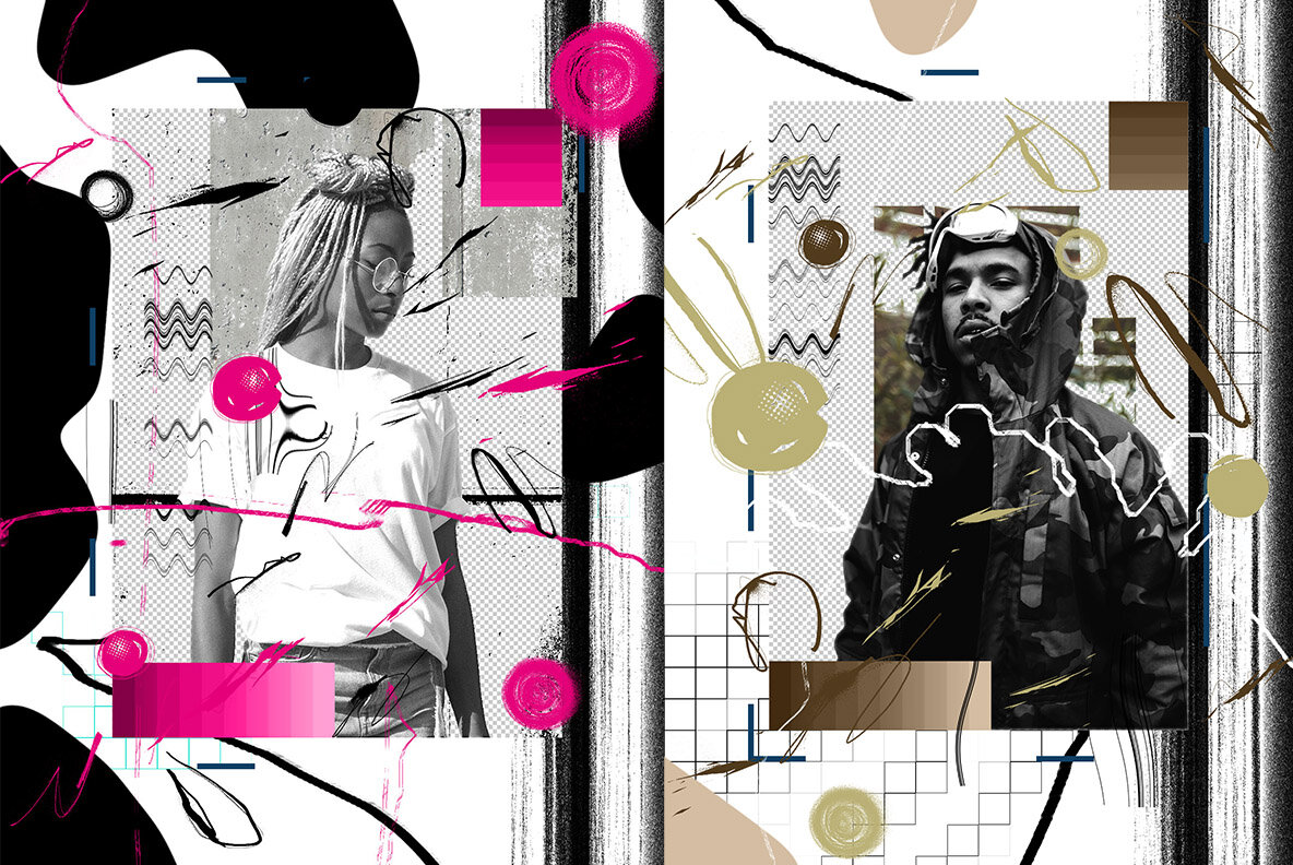 Fuzzy Collage Photoshop Action