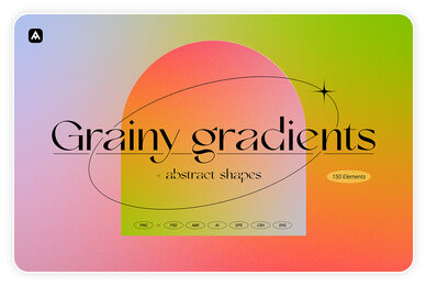 Grainy Gradients   Backgrounds  Abstract Shapes Collection