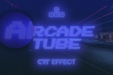 Arcade Tube CRT Effect