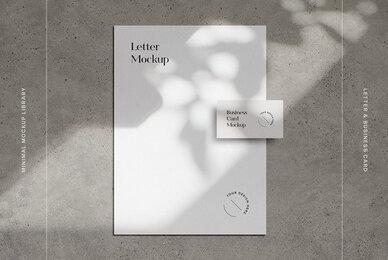 US Letter  Business Card Mockup