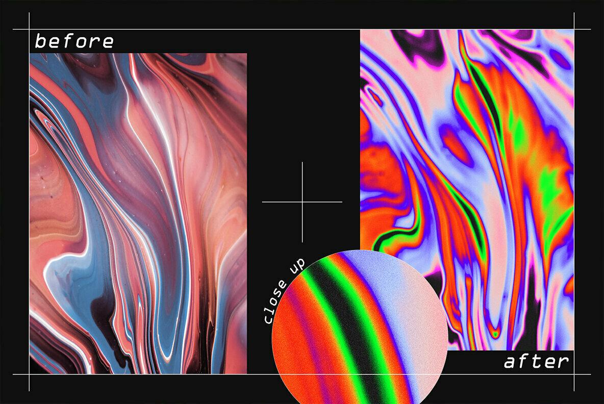 Iridescent PSD Texture Kit