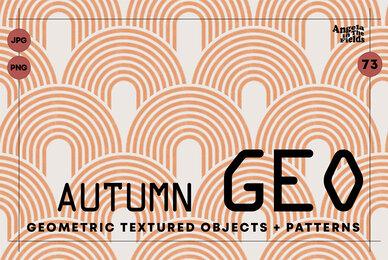 Autumn Retro Geo Objects