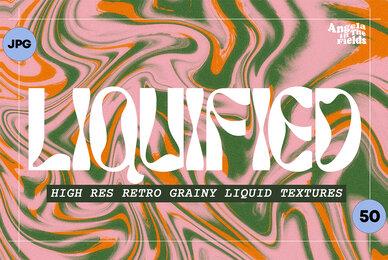 50 Liquid Retro Textures 3600px