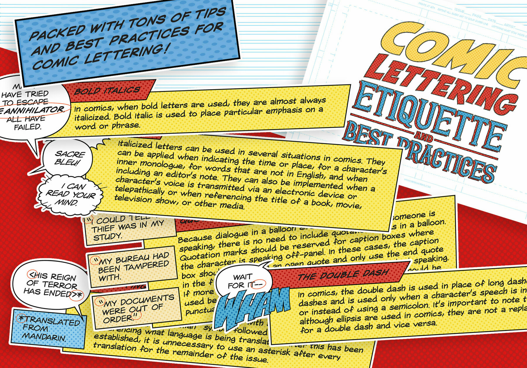 The Comic Lettering Masterclass for Photoshop and Illustrator