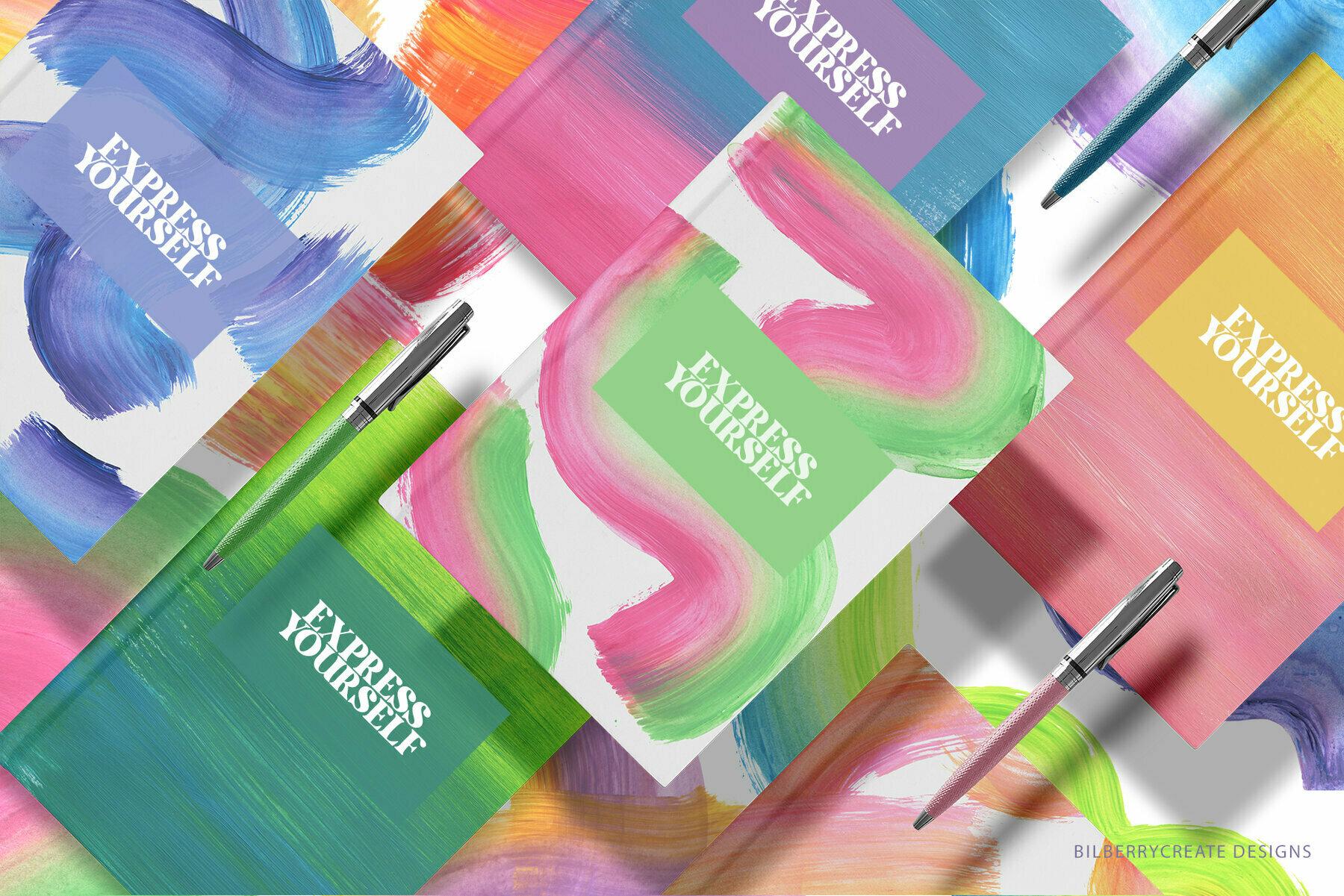 Express Yourself Acrylic Textures