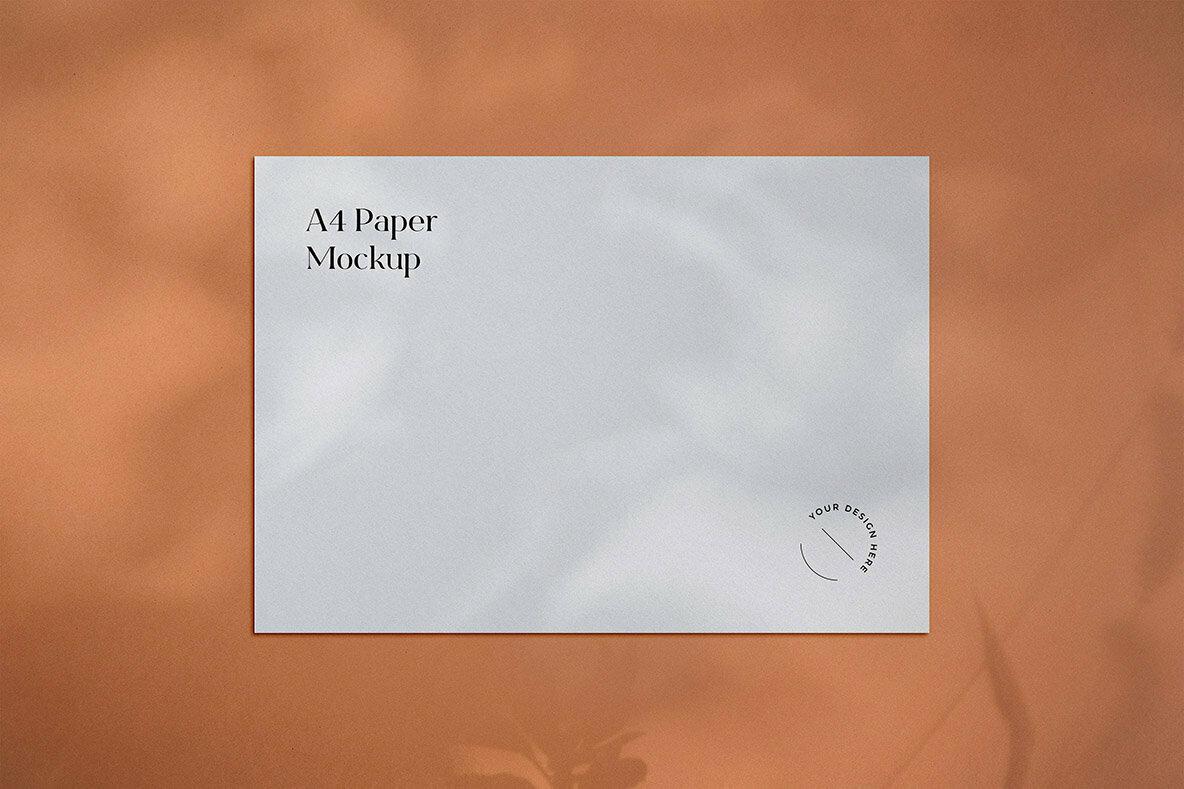 Minimal A4 Paper Mockup Vol 2