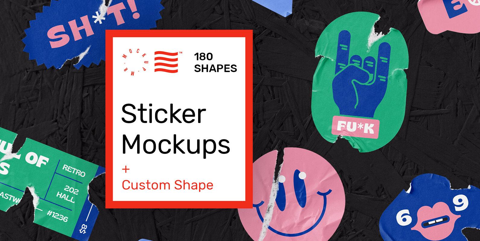 Sticker Mockups - Shape Generator