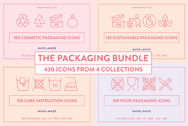 4x Packaging Icons Bundle