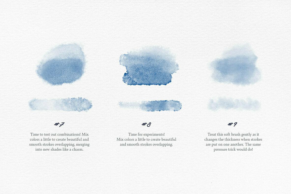 Elixir Watercolor Procreate Brushes