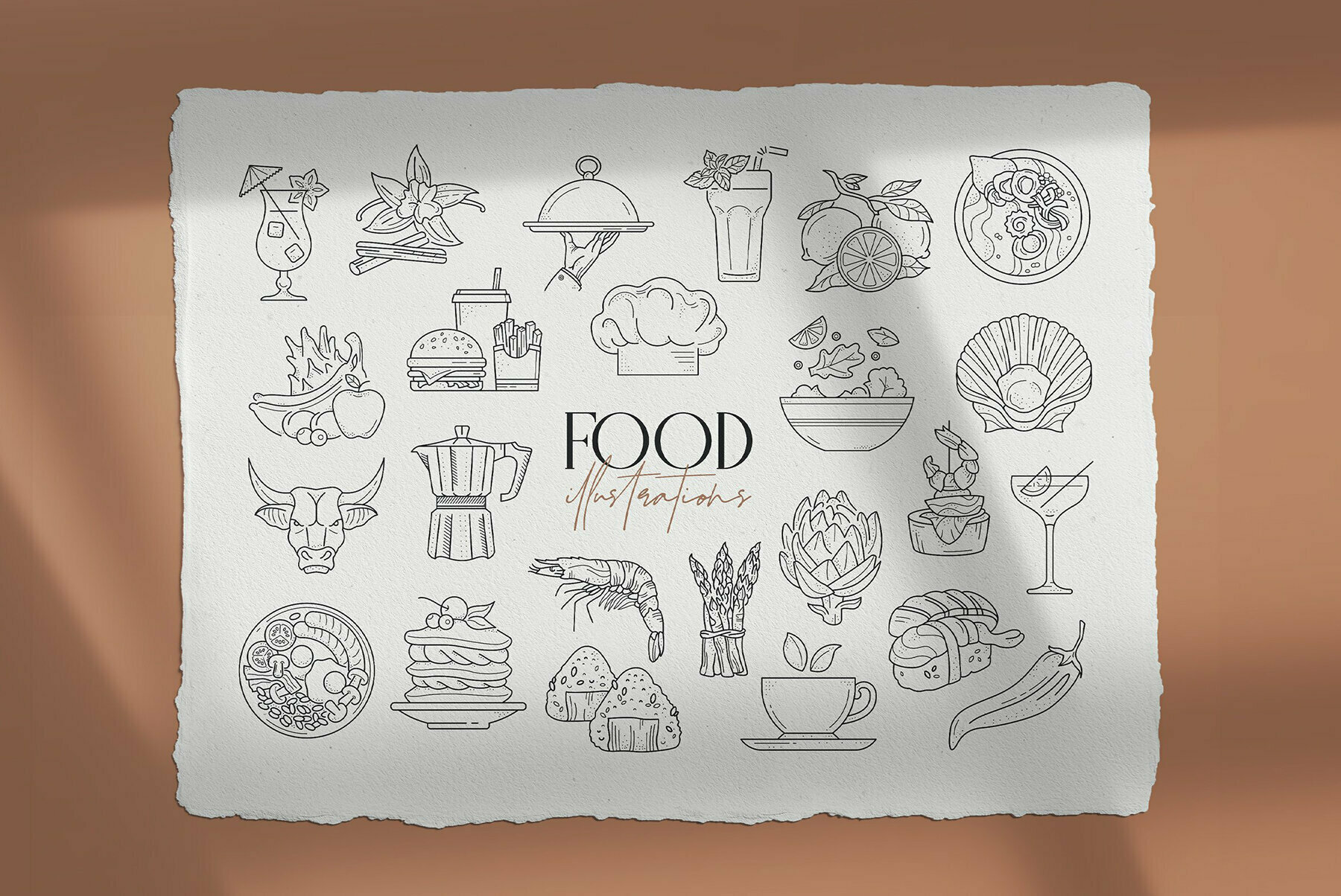 Food Illustration Set