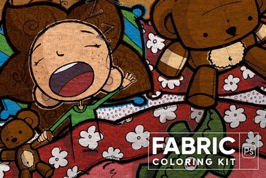 Fabric Coloring Kit