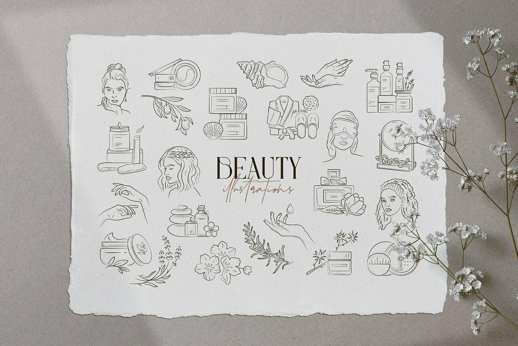 Beauty Illustration Set