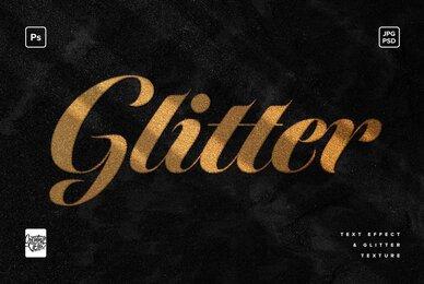 Glitter Photoshop Text Effect