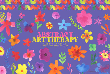 Watercolour Abstract Art Therapy