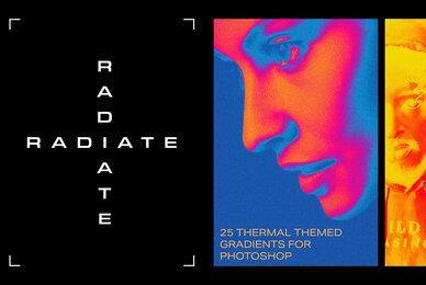 Radiate Photoshop Gradients