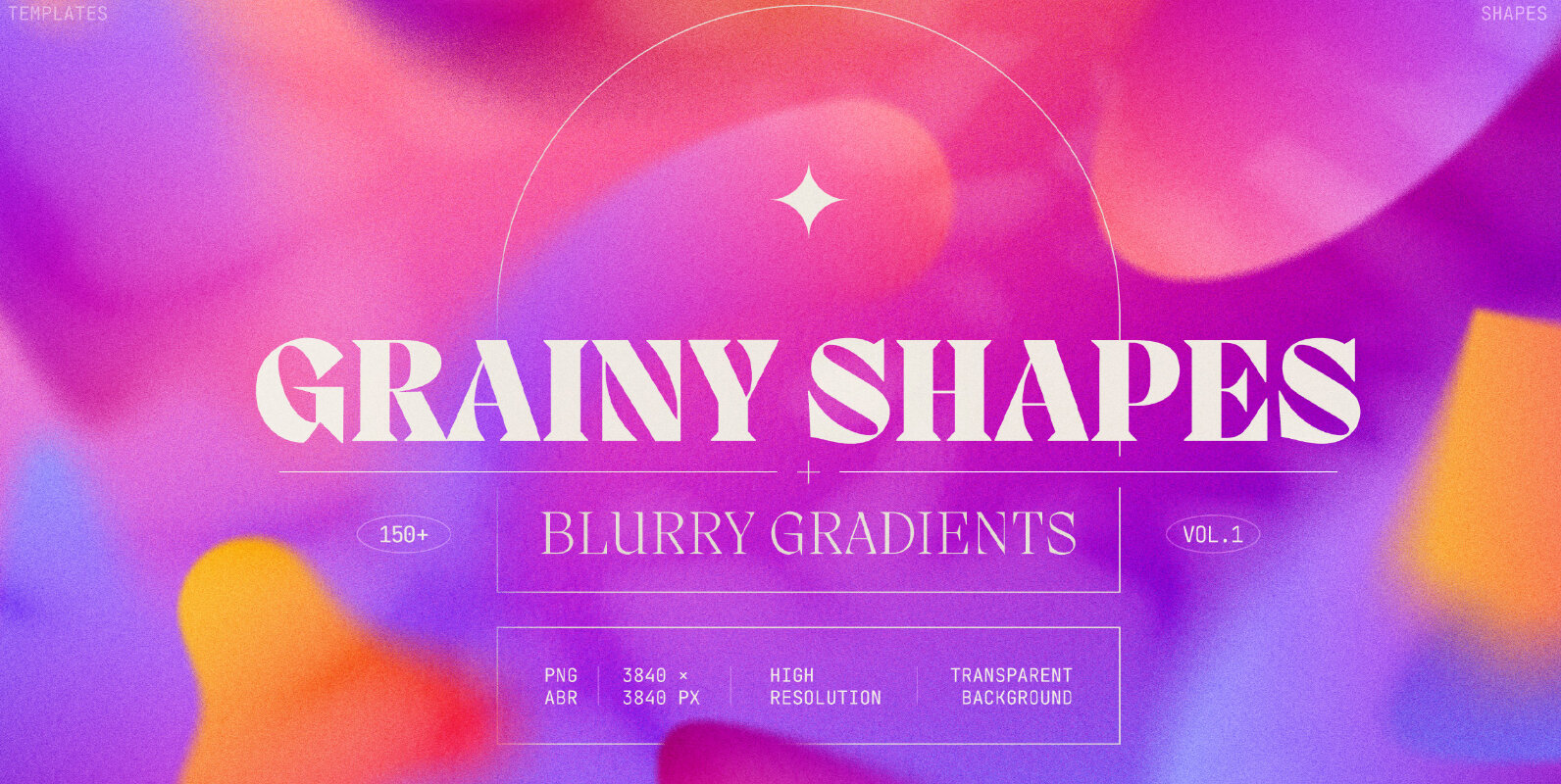 Grainy Shapes and Blurry Gradients Collection