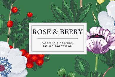 Rose  Berry Patterns