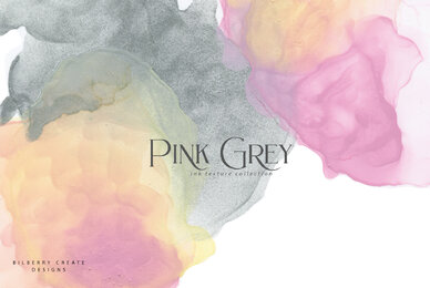 Pink Grey Ink Texture Collection